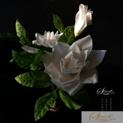 FaceBook Lesson  - Wafer paper Gardenia and foliage