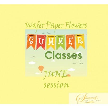 Summer FaceBook Live Lesson   - June  Wafer paper  flowers