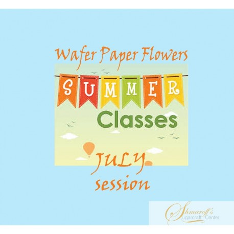 Summer FaceBook Live Lesson   - July  Wafer paper  flowers