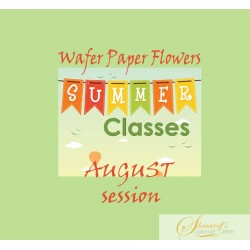 Summer FaceBook Live Lesson   - August  Wafer paper  flowers