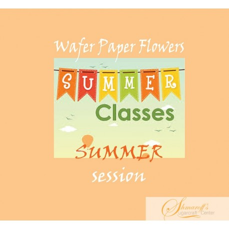 Summer FaceBook Live Lesson   - Summer  Wafer paper  flowers