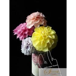 FaceBook Live Lessons - Pompom Dahlia  - wafer paper decoration/flowers with Petya Shmarova
