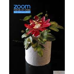 ZOOM Hands on Lessons - Red Passion Flower from wafer paper with Petya Shmarova