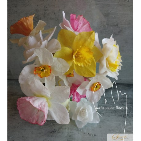 Zoom Lessons - Spring series Daffodils/Narcissus  Wafer paper with Petya Shmarova