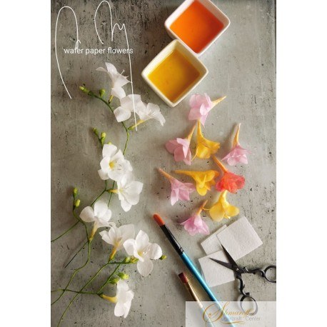 Zoom Lessons - Spring series Freesia  Wafer paper with Petya Shmarova